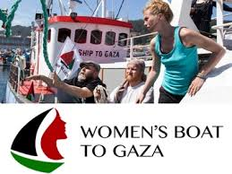Image result for Women's Boat to Gaza CARTOON