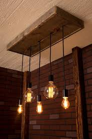 industrial lighting ideas. industrial lighting chandelier with reclaimed wood and 5 pendants ideas s