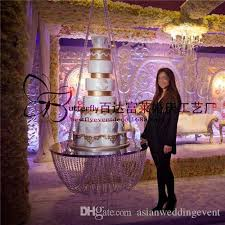 dia 18 clear wedding cake stand chandelier style suspended cake swing crystal hanging cake stand outdoor wedding decorating ideas wedding decor from