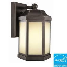 design house bennett oil rubbed bronze fluorescent outdoor wall mount downlight
