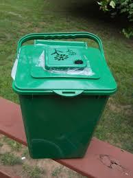 noble retro style steel kitchen compost bin bucket caddy food waste
