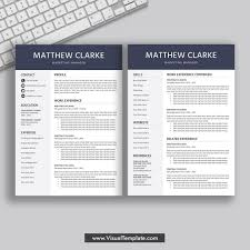 Modern 2020 Resume 2019 2020 Pre Formatted Resume Template With Resume Icons