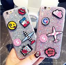 luxury brand diy cute cartoon emoji bling glitter aircraft soft silicone phone case cover for apple x iphone 6 6s 6plus 8 7plus phone covers make your own