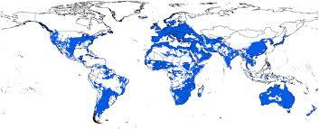 Bluetounge Virus Current Potential Distribution Map For Bluetongue Virus Based On