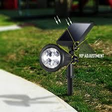 CREATIVE DESIGN LED Outdoor Solar Spotlight MultiColored 4 LED Garden Solar Lights For Sale