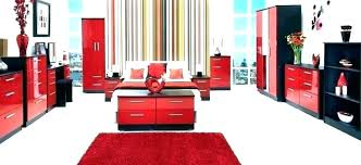 Red And Black Bedroom Decorating Ideas Red And Black Room Decor Red ...