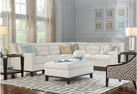 Reina Point White Leather 40 Pc Sectional Living Room Leather New Leather Couch Living Room Ideas Model