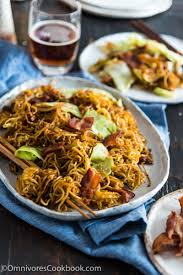 chinese food fried noodles. Brilliant Food Bacon Pan Fried Noodles Intended Chinese Food D