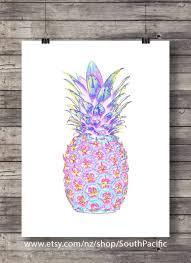 neon pineapple tropical pineapple ananas hawaii aloha printable wall art instant download digital print on neon wall art nz with neon pineapple printable art tropical pineapple pink purple neon