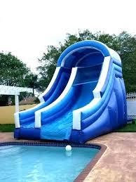 inflatable inground pool slide. Delighful Slide Water Slide For Inground Pool Slides Pools Inflatable  Architecture To Inflatable Inground Pool Slide R