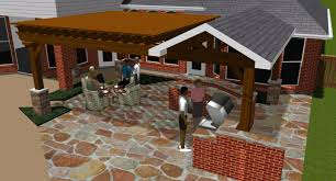 attached covered patio designs. Fort Worth Design Rendering In Colleyville, TX For Pergola And Covered Patio Attached Designs O