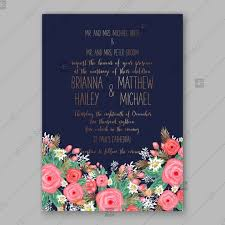 Mothers Day Card Template Best Pink Rose Peony Wedding Invitation Card Dark Blue Background