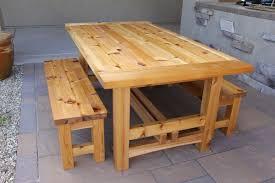 wooden outdoor furniture plans. Rustic Wooden Outdoor Table Designs Furniture Plans