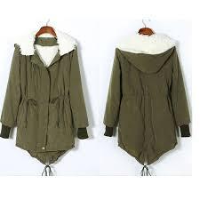 women thicken fleece warm winter coat zip up hooded parka long jacket overcoat o