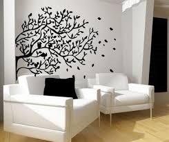 Wall Art Ideas Design : Black Natural Art Wall Decor Ideas Tree Large Size  Original Branches Leaves Living Room Decoration White Sofa Wonderful Art  Wall ...