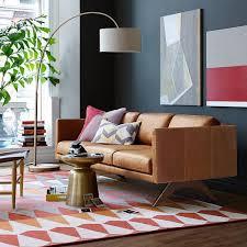 modern furniture brooklyn. Brooklyn Leather Sofa West Elm More Modern Furniture On