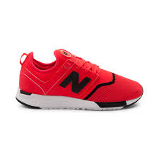 new balance shoes red. alternate view: mens new balance 247 athletic shoe - bright red/black alt1 shoes red