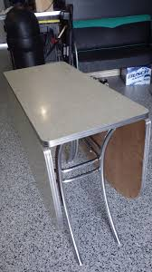 Ebay Kitchen Table And Chairs Vintage Lloyd Retro Gray Cracked Ice Formica Chrome Drop Leaf
