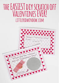 The Easiest Printable Scratch Off Valentines Day Cards For
