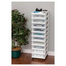 plastic storage drawers. iris 10-drawer plastic storage rolling cart drawers
