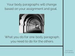 elements of an essay body paragraphs 13 o x f o r d t u t o r i n g your body