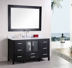 double vanity with two mirrors. cool black bathroom vanity with white granite top set under rectangular wall mirror are designed double two mirrors
