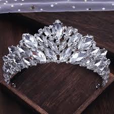 Luxury / <b>Gorgeous Silver Rhinestone</b> Tiara <b>Wedding</b> Accessories ...