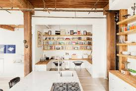 loft home office. View In Gallery Modern Industrial Loft Home With Built-in Office Spaces
