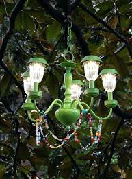 diy outdoor chandelier solar wooden powered best ideas on design s