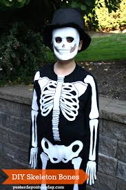 diy skeleton costume yesterday on tuesday