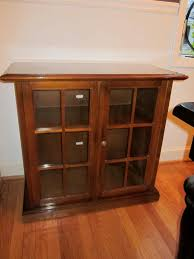 furniture small wood dvd storage with glass doors and floor cabinet with doors and shelves