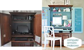 Armoire Desk   Computer Desk and Hutch   Computer Armoire Oak