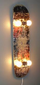 cool wall lighting. Check Out This Cool Wall Lamp Made Of An Old Skateboard @istandarddesign Lighting 3
