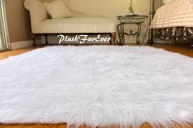 excellent faux fur rug 5x7 shear style natural double sheepskin area com