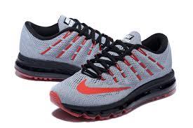 nike running shoes 2016 black. nike air max 2016 gray black red running shoes
