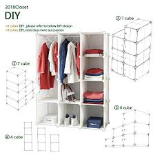 sturdy hanging closet organizer. Brilliant Closet Tespo Portable Clothes Closet Wardrobe DIY Modular Storage Organizer Sturdy  Construction 12 Deeper Cubes With Hanging On D