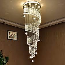 saint mossi modern k9 crystal swirl design raindrop chandelier lighting flush mount led ceiling light fixture