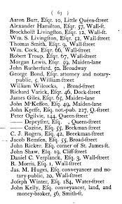 new york public library digitizes years of new york city  new york directory 1786