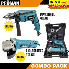 proman bo pack angle grinder and impact drill