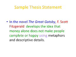 writing the literary analysis essay ppt video online  4 sample thesis statement in the novel the great gatsby