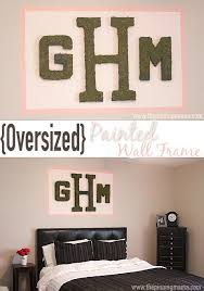 painting a frame around large objects on the wall is a totally easy and affordable way