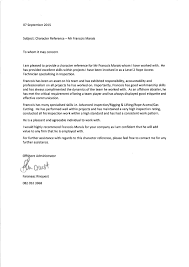 Pattern Of Reference Letter Character Reference Letter Francois Marais