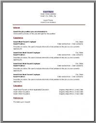 Resume Template Microsoft Word Free Using Resume Template Microsoft