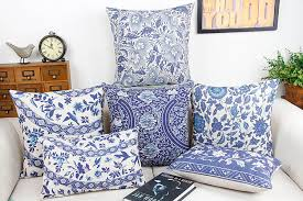 blue and white pillows. Perfect White Blue And White China Flower Home Decor Pillow Cushion Decorative Linen  Cotton Sofa Cushions Car Throw Pillowsin From U0026 Garden On  On And White Pillows E