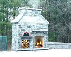 outdoor fireplace with pizza oven image plans k and combo