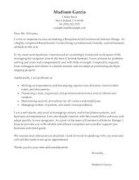 Cover Letter Example For Receptionist Receptionist Cover Letter