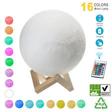 Moon Lamp <b>Hanging</b> 3D Printing Moon Light LED <b>16 Colors</b> Night ...