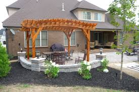 paver patio with pergola. Western Red Cedar Pergola \u0026 Paver Patio With T