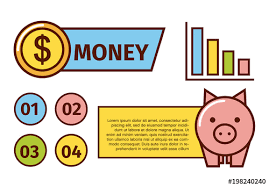 Financial Infographic With Cartoon Style Illustrations Buy