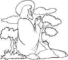Jezus Bidt Kleurplaat Gratis Kleurplaten Printen